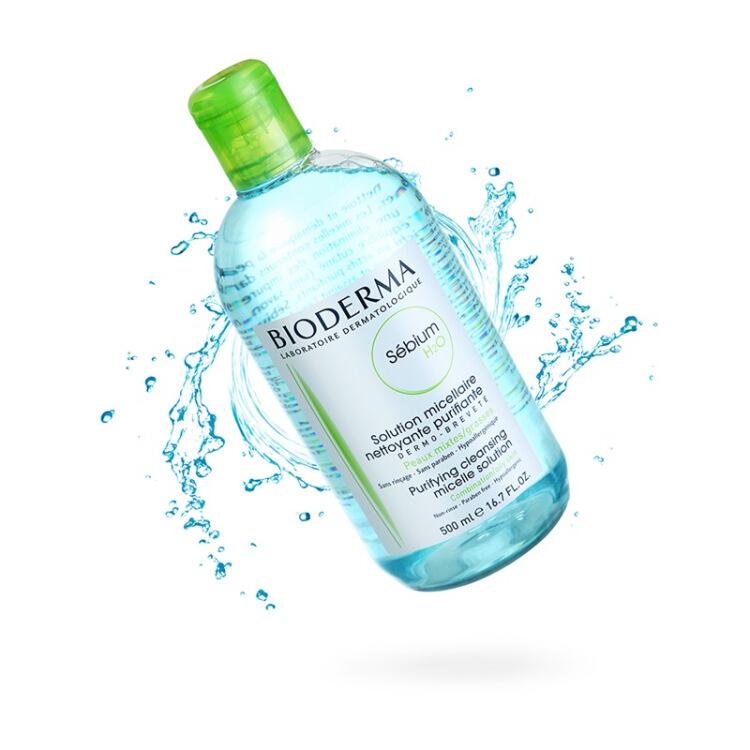 法国贝德玛BIODERMA 卸妆水 蓝水/通常肌500ml 控油收缩孔