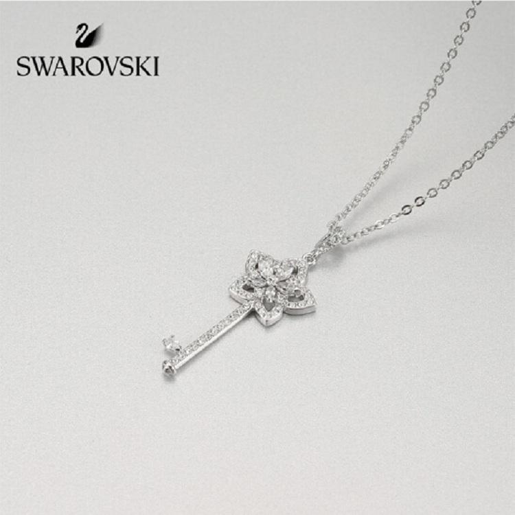 施华洛世奇 LADY KEY小花钥匙银色项链锁骨链 5365276