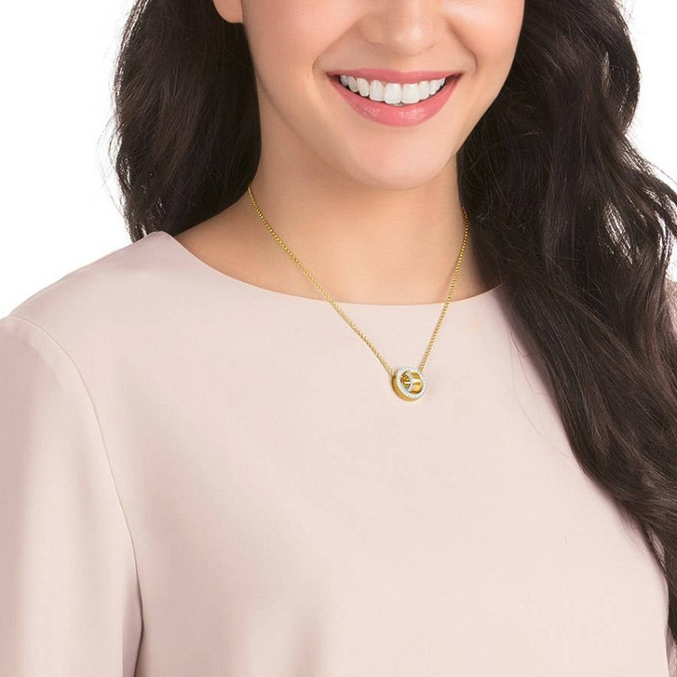 Swarovski 施华洛世奇项链金色转运珠镶水晶女士锁骨链 5349336
