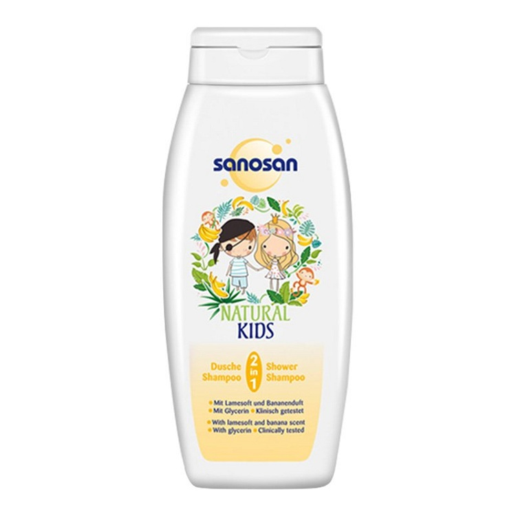 sanosan 哈罗闪 儿童二合一洗发沐浴露 香蕉香型250ml