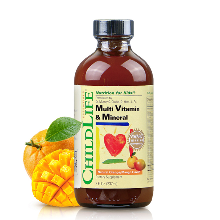 美国 Childlife/童年时光 维生素C补充液118.5ml+23种复合维生素营养液237ml(组合套装)